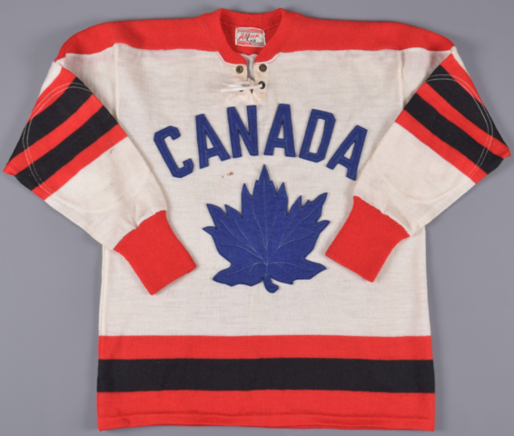 1959 Team Canada Game-Worn Wool Jersey - 1959 Belleville McFarlands