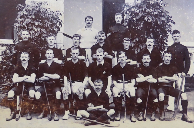1st Battalion of the Manchester Regiment Hockey Team 1905 India