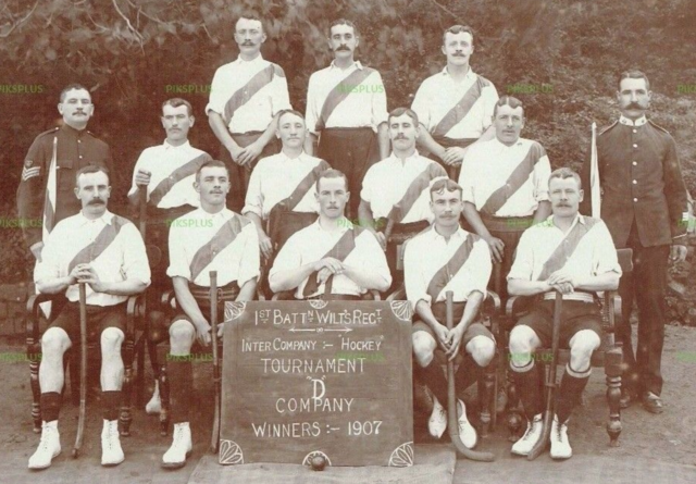 1st Battalion of the Wiltshire Regiment Hockey Team 1907 Dagshai, India