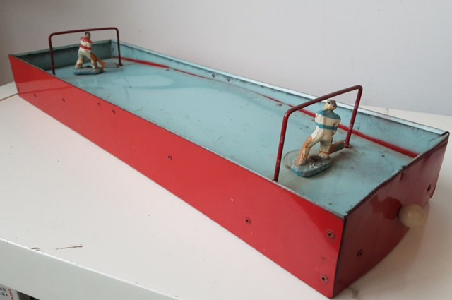 Antique Table Top Hockey Game - Metal