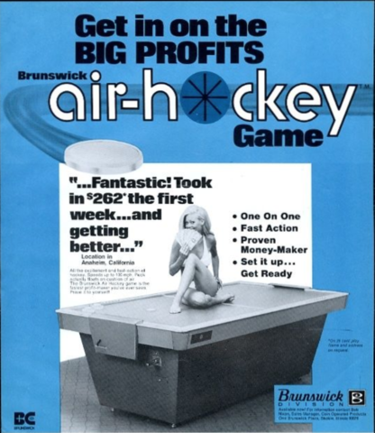 Brunswick Air Hockey Game Brochure for Coin-Op Game 1973