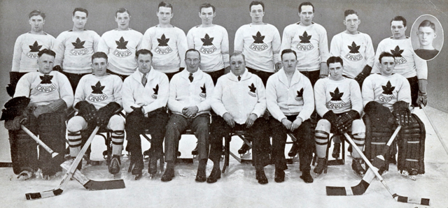 Canadian Olympic Hockey Team 1936 Winter Olympics at Garmisch-Partenkirchen