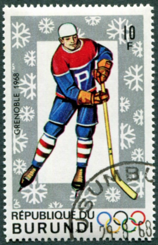 Burundi Stamp for 1968 Grenoble Winter Olympics