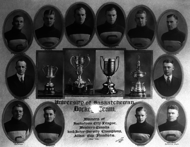 University of Saskatchewan Hockey Team 1923 Western Canada Hockey Champions