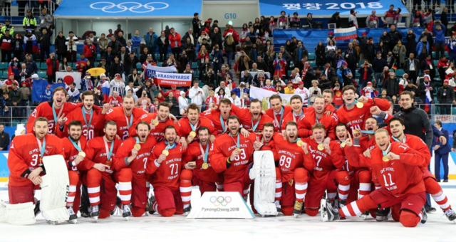 OAR 2018 Winter Olympics Ice Hockey Gold Medal Champions