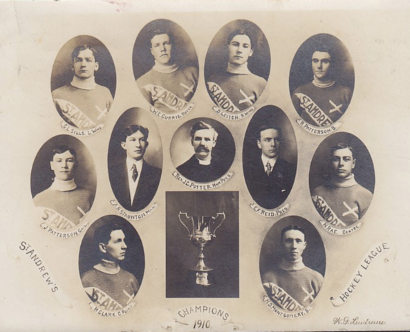 St. Andrew's College Hockey Team 1910 Little Big Four Champions