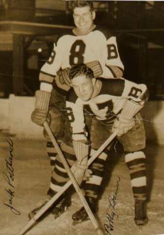 Jack Portland and Bobby Bauer 1938 Boston Bruins