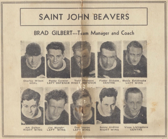 Saint John Beavers 1932 Southern Hockey League, New Brunswick