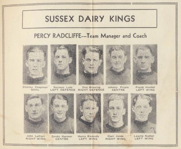 Sussex Dairy Kings 1932 Southern Hockey League, New Brunswick