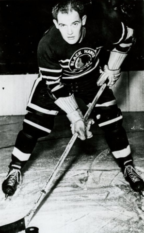 Eddie Wares 1946 Chicago Black Hawks