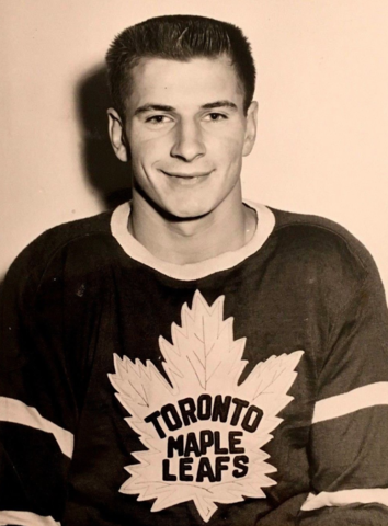 Larry Cahan 1954 Toronto Maple Leafs