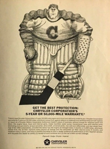 Chrysler Hockey Ad 1966