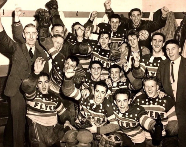 Barrie Flyers 1948 OHA and George Richardson Memorial Trophy Champions