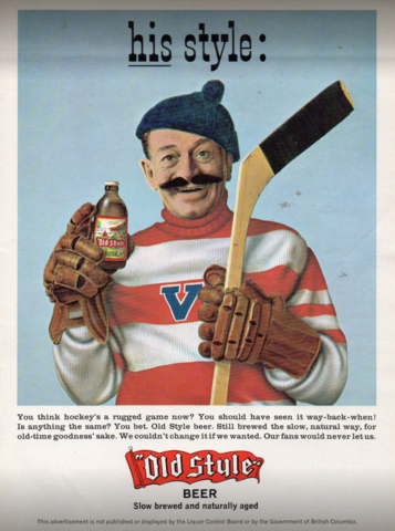 Old Style Beer Hockey Ad 1969