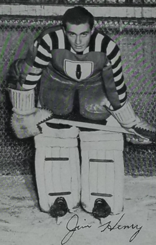 Sugar Jim Henry 1943 Ottawa Commandos Goalie