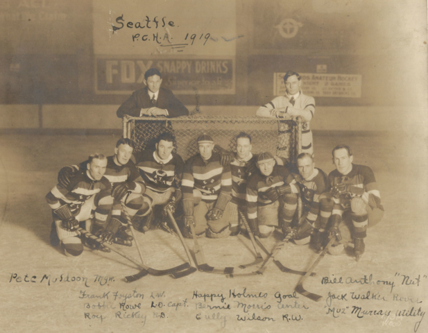 Seattle Metropolitans Team Photo 1919 Pacific Coast Hockey Association