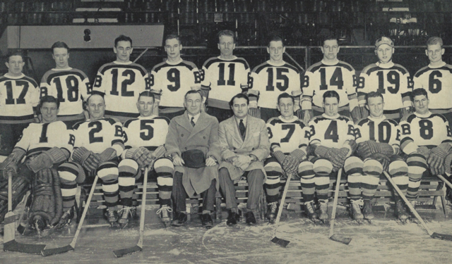 Boston Bruins Team Photo 1938