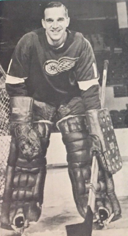 Roger Crozier 1965 Detroit Red Wings