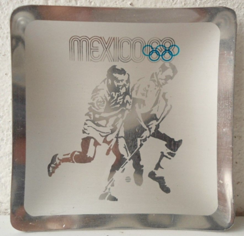 Mexico 1968 Summer Olympics Field Hockey Ashtray Souvenir