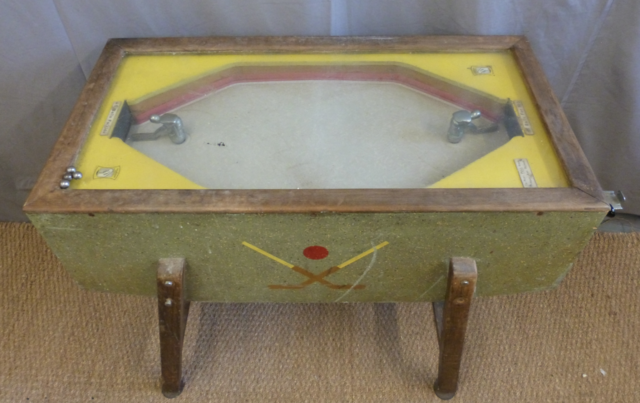 Antique Table Hockey Game by Crompton 1930s Parlour Table Hockey Game