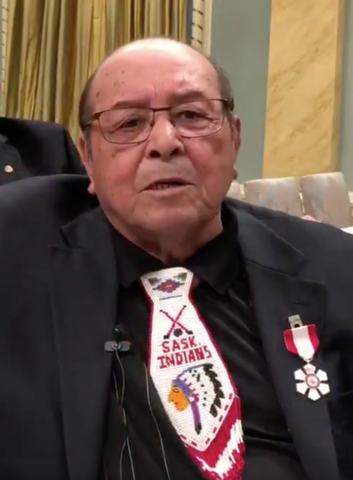Fred Sasakamoose with the 2018 Order of Canada