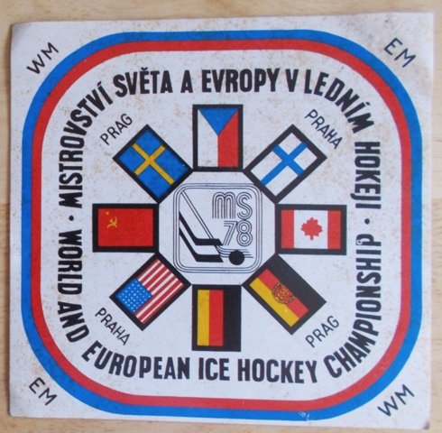 1978 World & European Ice Hockey Championships Decal / Sticker