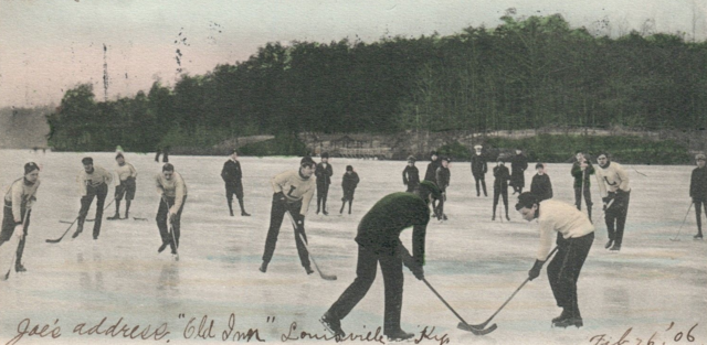 Ice Hockey at Carasaljo Lake, Lakewood, New Jersey 1906