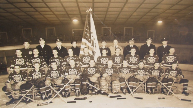 "United States Coast Guard ""Cutters"" Ice Hockey Team 1942-43"