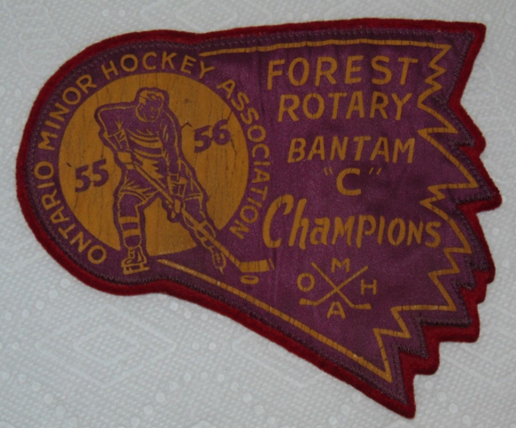 Ontario Minor Hockey Association 1956 Bantam C Champions Patch - Forest Rotary