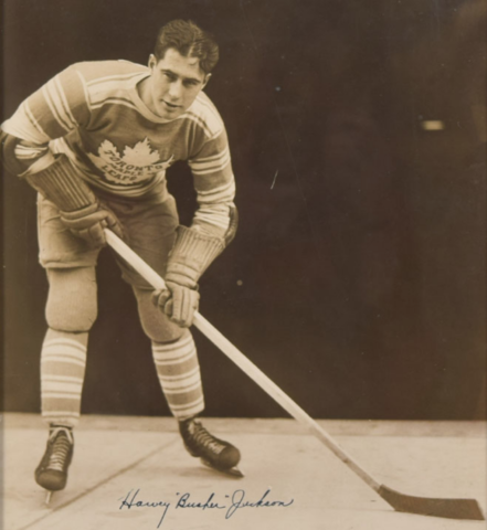 "Harvey ""Busher"" Jackson 1934 Toronto Maple Leafs"