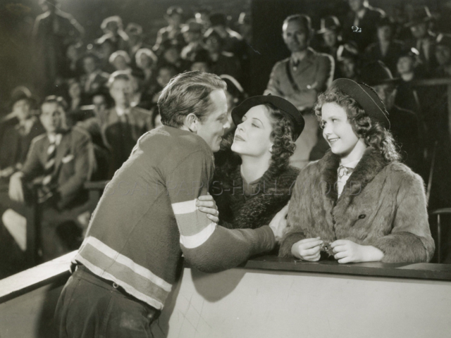 King of Hockey Movie Still 1936 with Dick Purcell, Anne Nagel & Ann Gilles