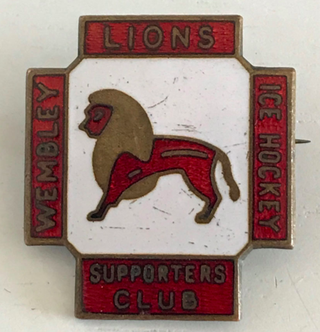 Wembley Lions Ice Hockey Supporters Club Pin-Back