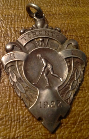 Toronto Hockey League 1922 Sterling Silver Medal