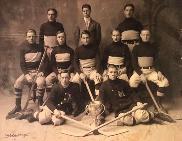 Melrose High School Hockey Team 1911 New England Champions