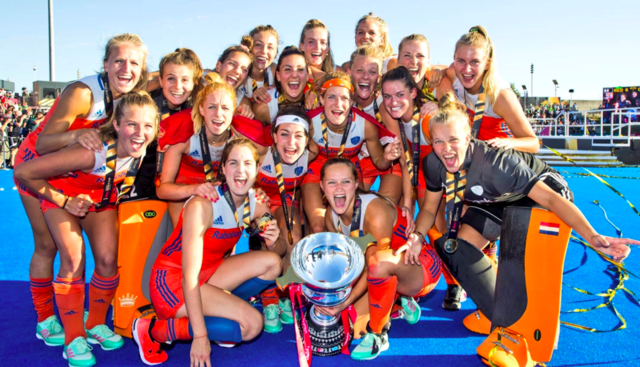 Netherlands Women's National Field Hockey Team  2018 FIH Hockey World Cup Champs
