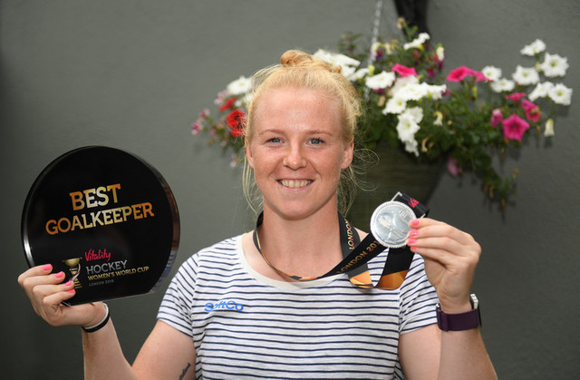 Ayeisha McFerran 2018 Best Goalkeeper Vitality Women's Hockey World Cup