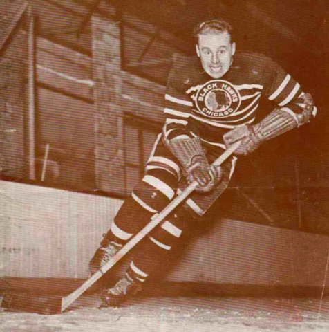 Red Hamill 1943 Chicago Black Hawks