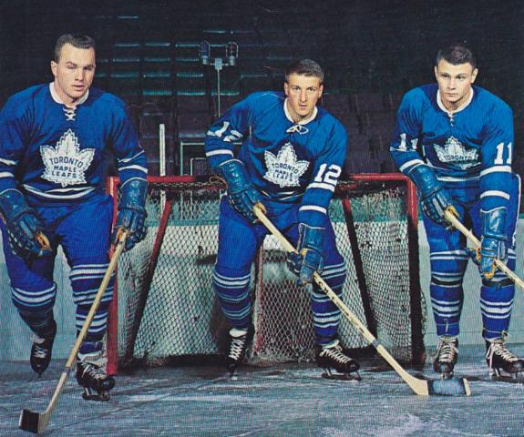 on sale 77b8e eecb3 Ron Ellis, Pete Stemkowski, Brit Selby of the Toronto Maple ...