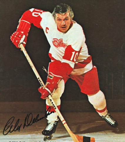 Alex Delvecchio 1972 Detroit Red Wings