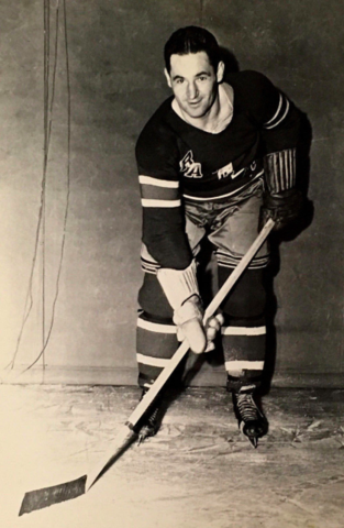 Charlie Sands 1944 New York Rangers