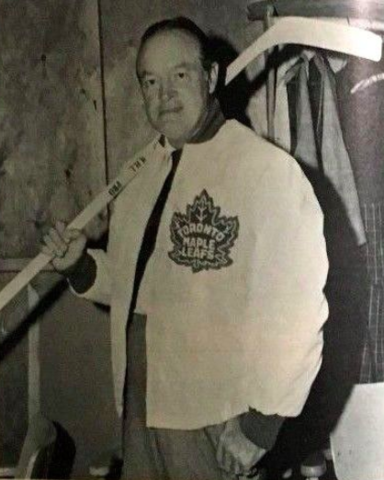 Bob Hope in a Toronto Maple Leafs Coaches Jacket 1965