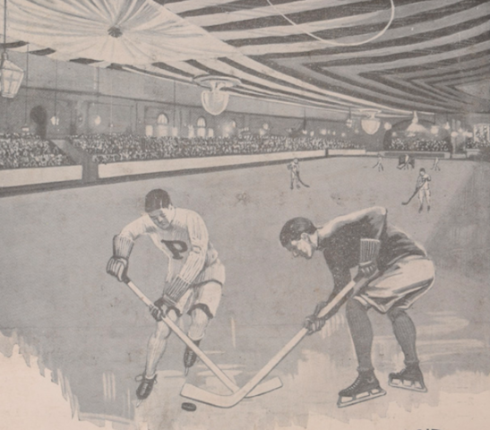 Duquesne Garden Hockey Program Art 1925