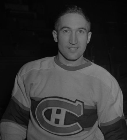 "Wilbert ""Dutch"" Hiller 1945 Montreal Canadiens"