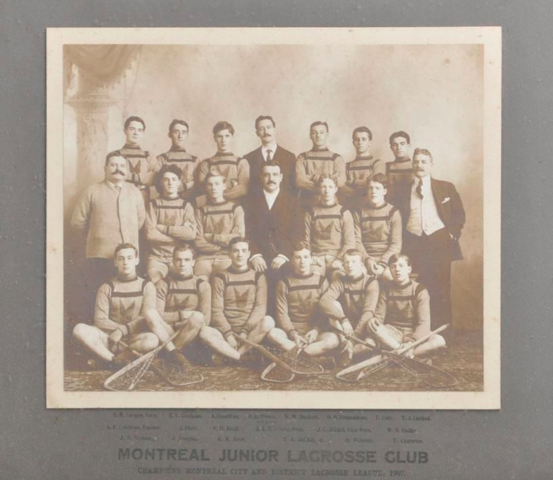Montreal Junior Lacrosse Club 1907 Champions of Montreal & District Lacrosse