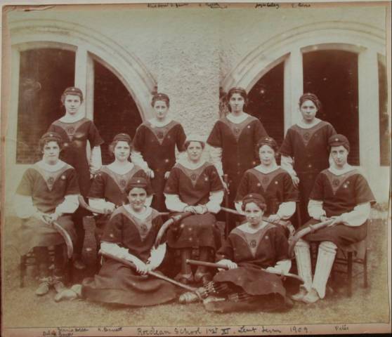 Roedean School Hockey Team 1909