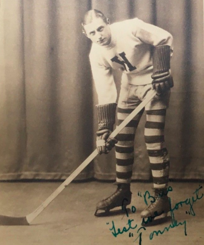 "Hebron Academy Hockey Player 1926 ""Lest We Forget"""