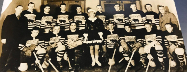 Hershey Bears Hockey Team 1937 with Sonja Henie