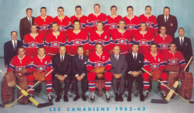 Montreal Canadiens Team Photo 1962