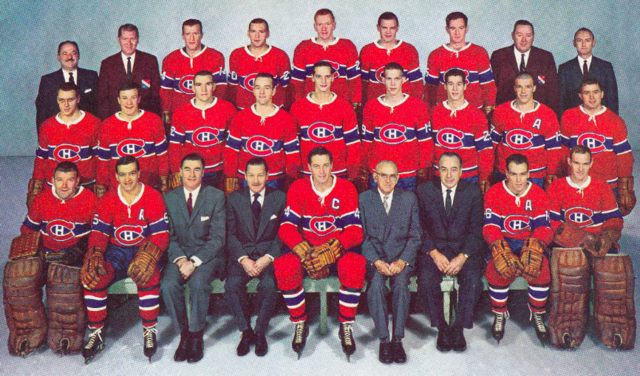 Montreal Canadiens Team Photo 1963