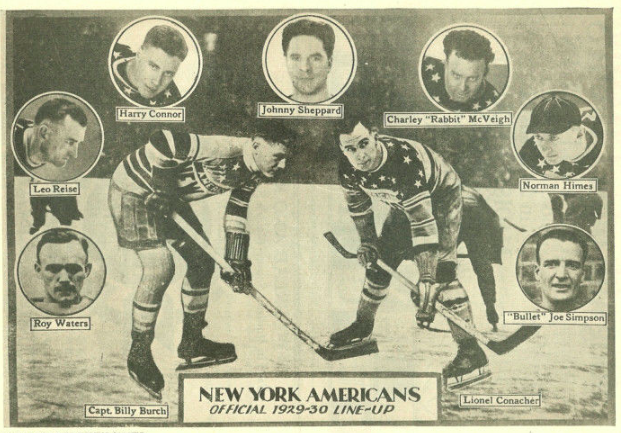 New York Americans Team Collage 1929